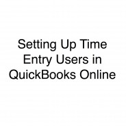Adding Time Entry Users in QuickBooks Online