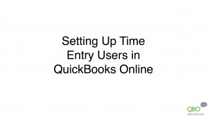 Adding Time Entry Users to QuickBooks Online