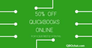 50% Off QuickBooks Online