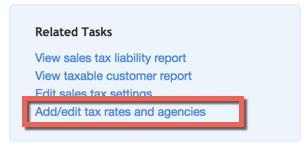 Add Sales Tax Rates in QuickBooks Online