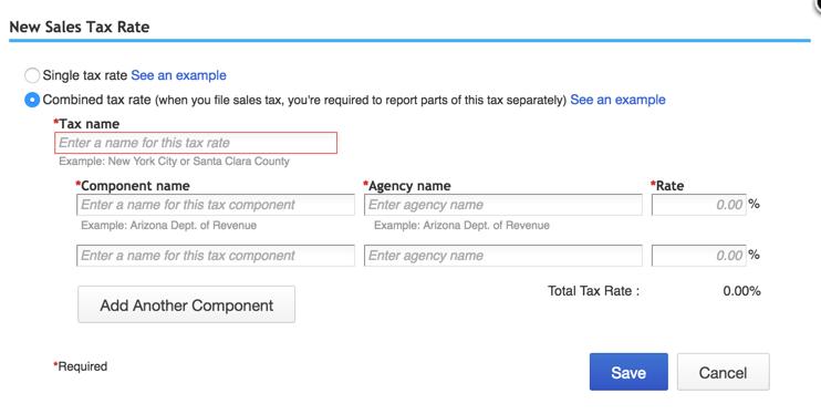 New Sales Tax Rate QuickBooks Online