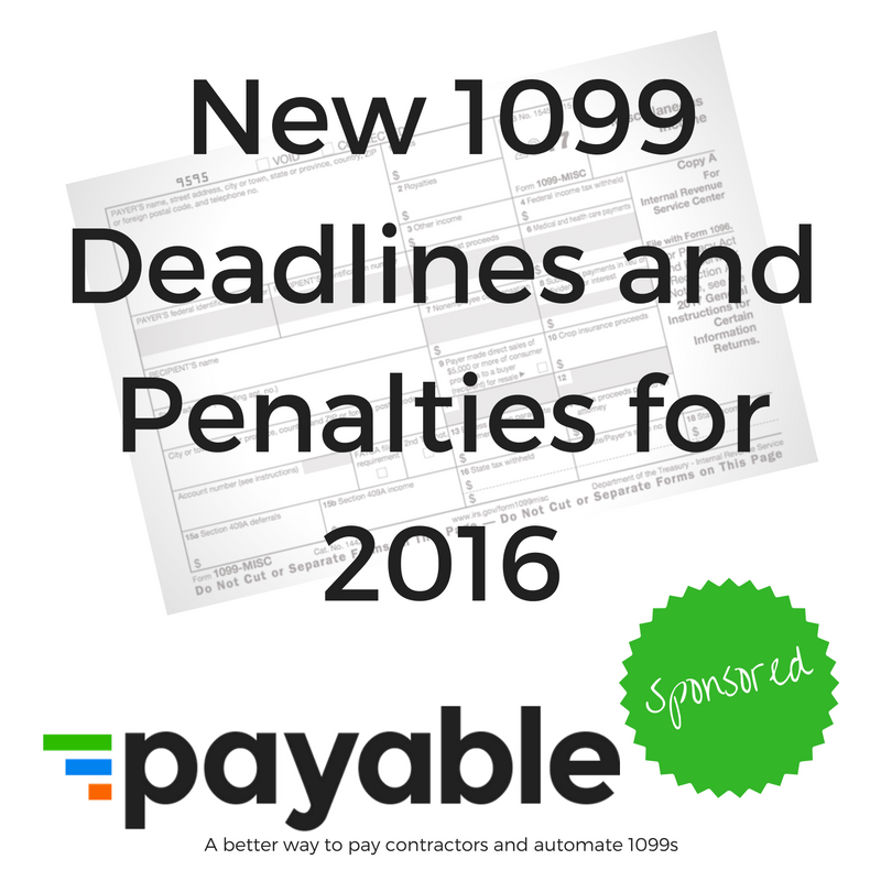 New 1099 Deadlines And Penalties For 2016 Qbochat