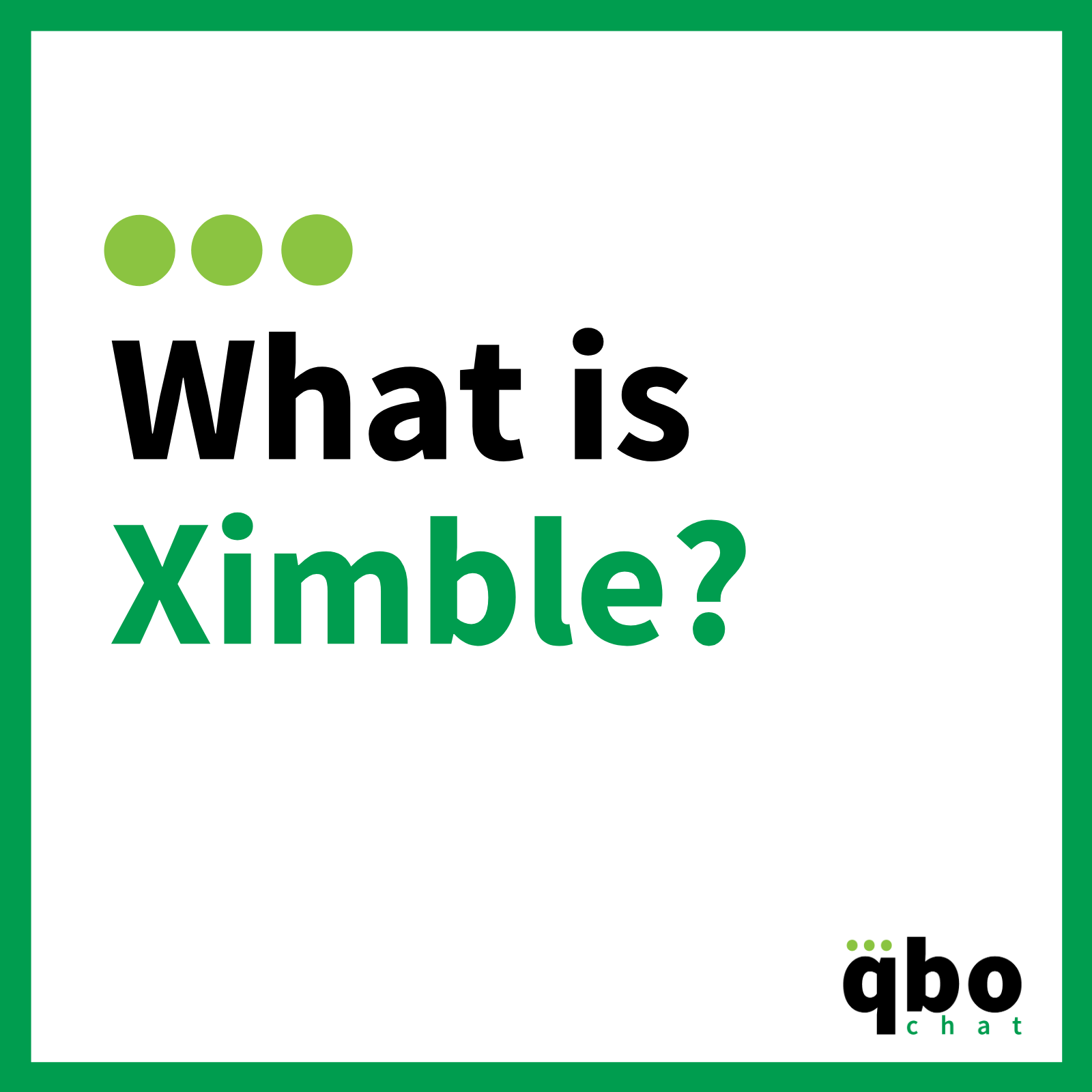 What is Ximble?