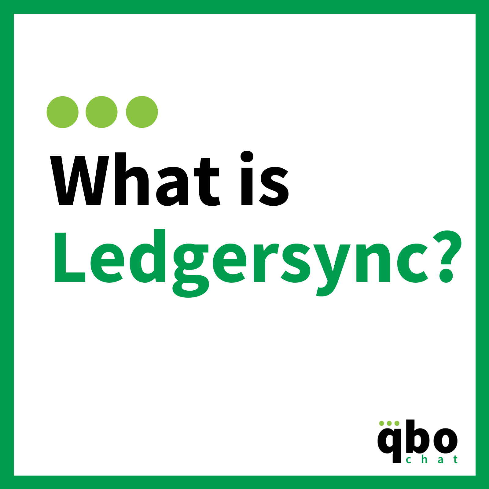 What is Ledgersync-