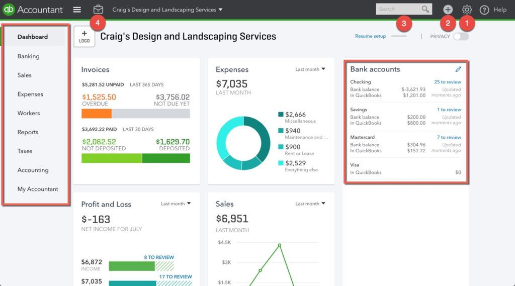 How to Navigate the QuickBooks Online Dashboard | QBOchat