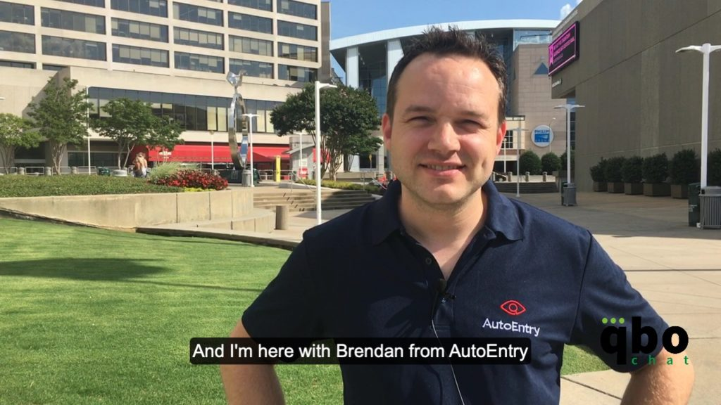 AutoEntry employee standing in front of the CNN center during his interview