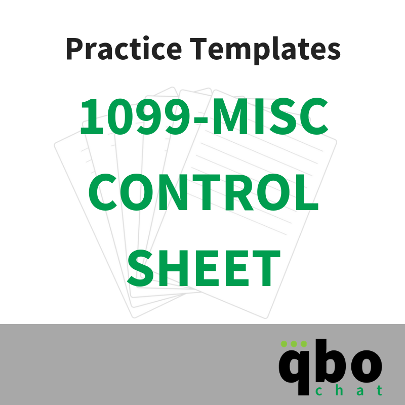 Purchase our 1099-Misc Control Sheet Template to help you organize your 1099 processing.