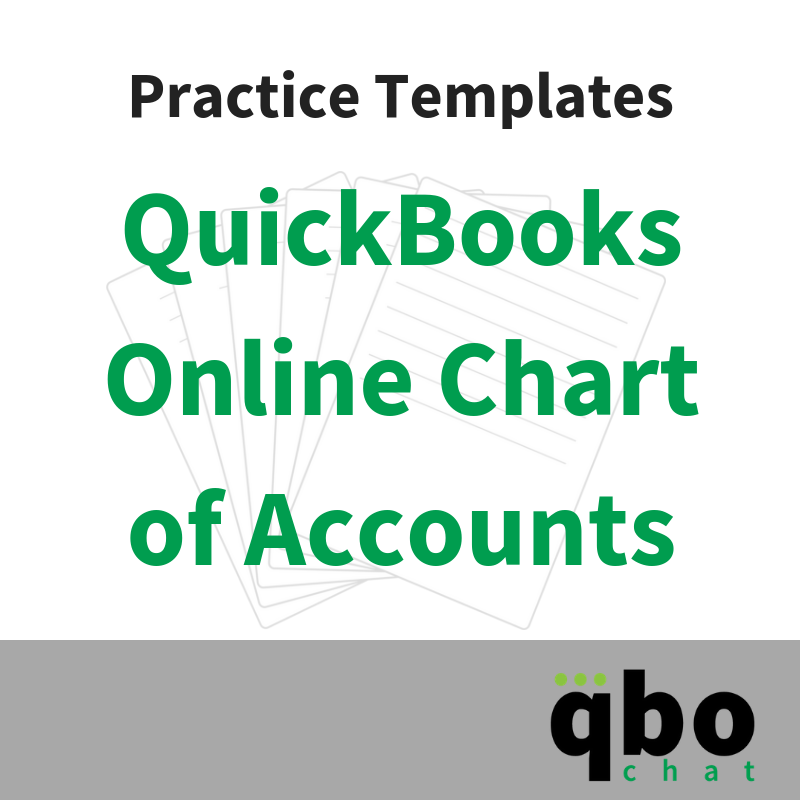 QuickBooks Online Chart of Accounts