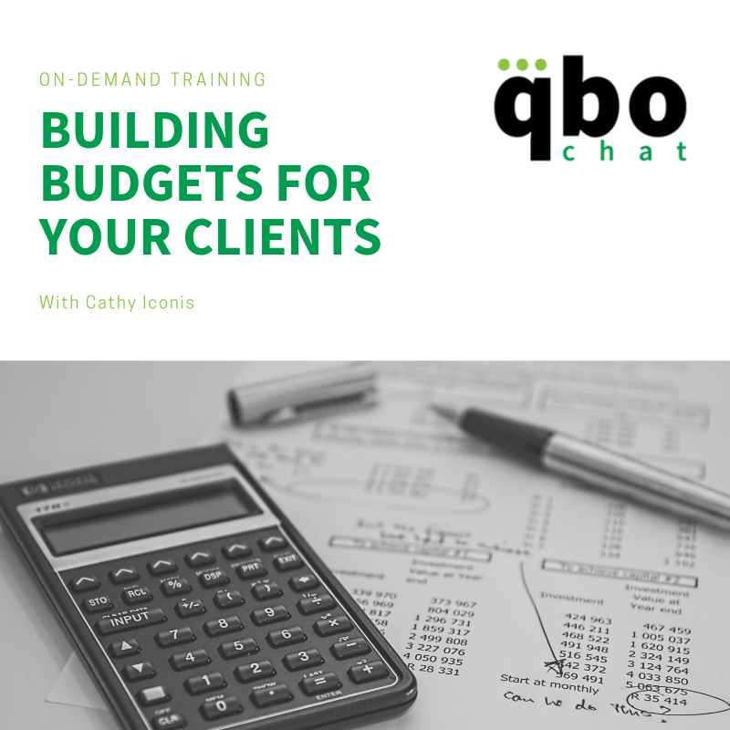 Building budgets for your clients