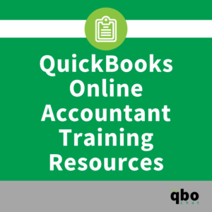QuickBooks Online Accountant Training Resources