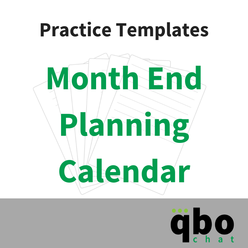 Month End Planner Template