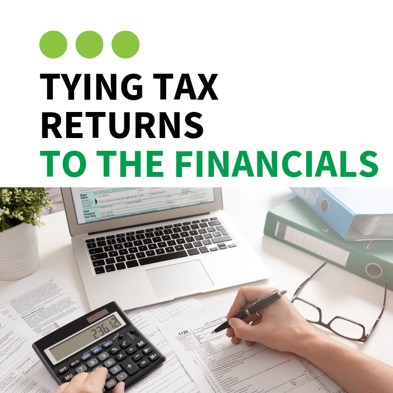Tying Tax Returns to the Financials