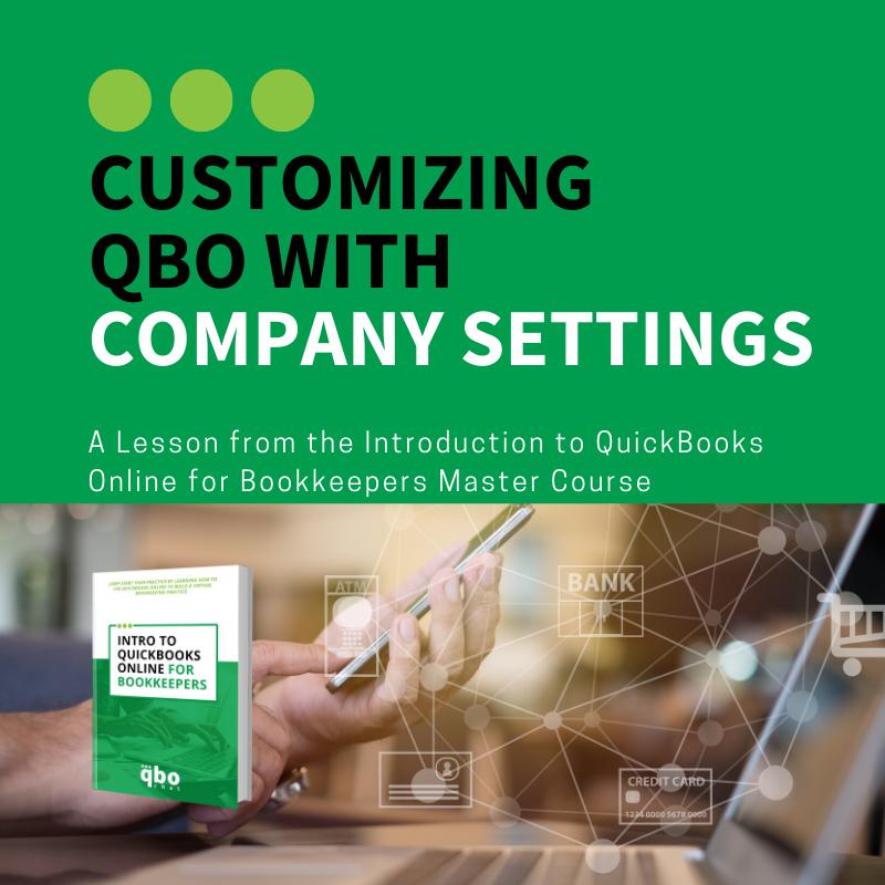 Customizing QBO with Company Settings