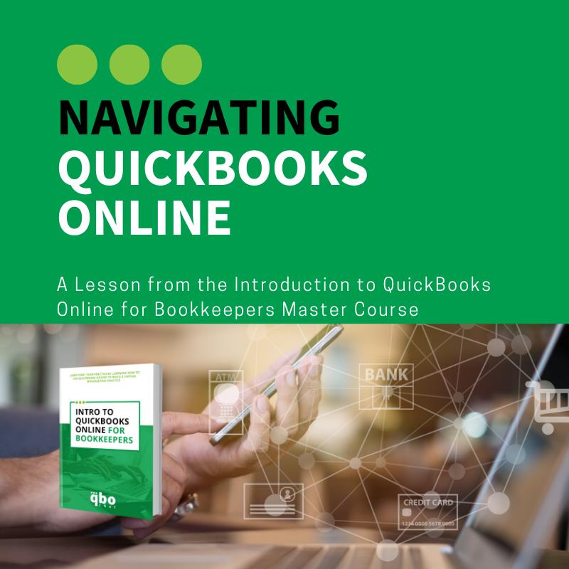Navigating QuickBooks Online