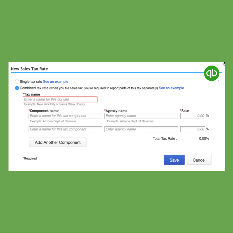 Combined Sales Tax Rates in QuickBooks Online