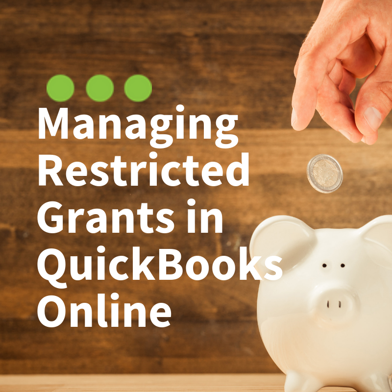 Managing Restricted Funds in QuickBooks Online