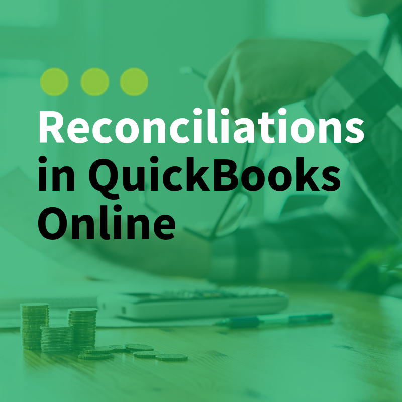 Reconciliations in QuickBooks Online